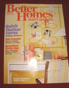 January 2013 issue of Better Homes and Gardens