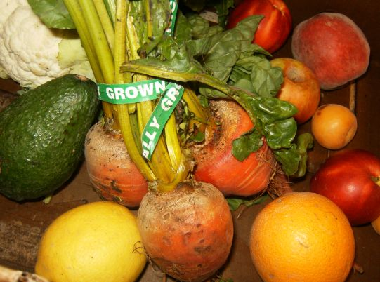 locally farmed fruits and vegetables