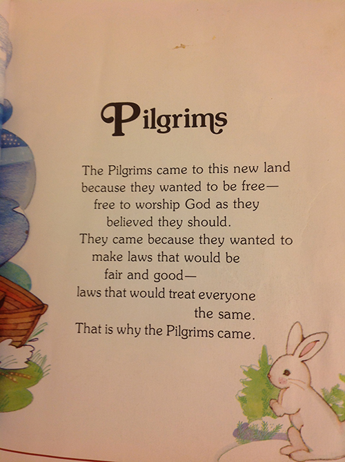 page about Pilgrims and tolerance