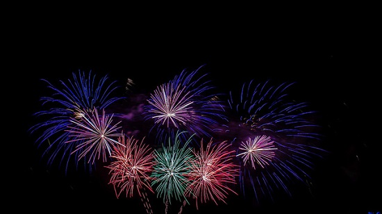 multicolored fireworks in midair